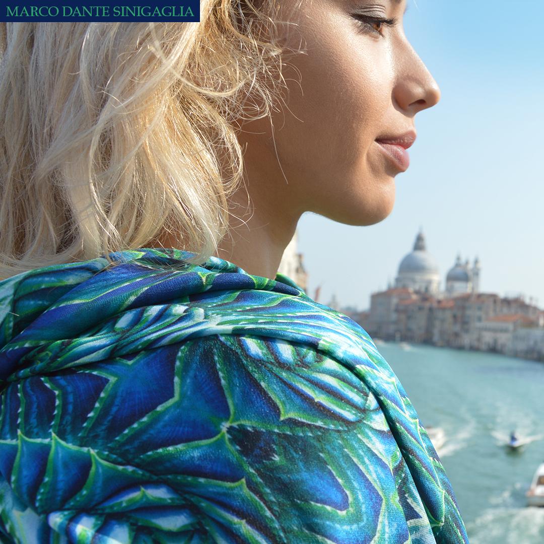 valeria with marco dante sinigaglia's foulard in venice