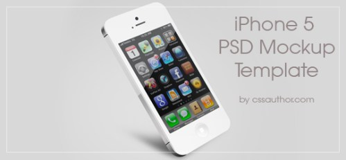iPhone 5 Mockup PSD Template by cssauthor