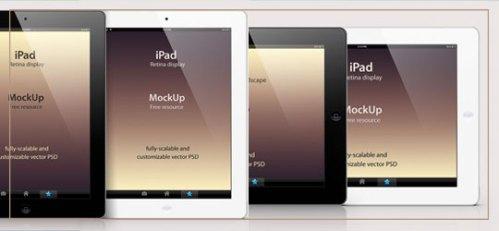 iPad Retina Mockup Template by Pixeden