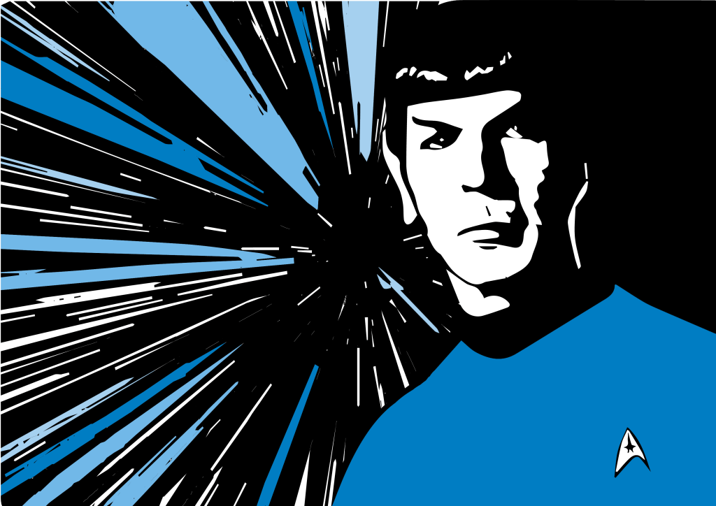 spock space hyperspace vulcanian design colors vector art adobe graphic