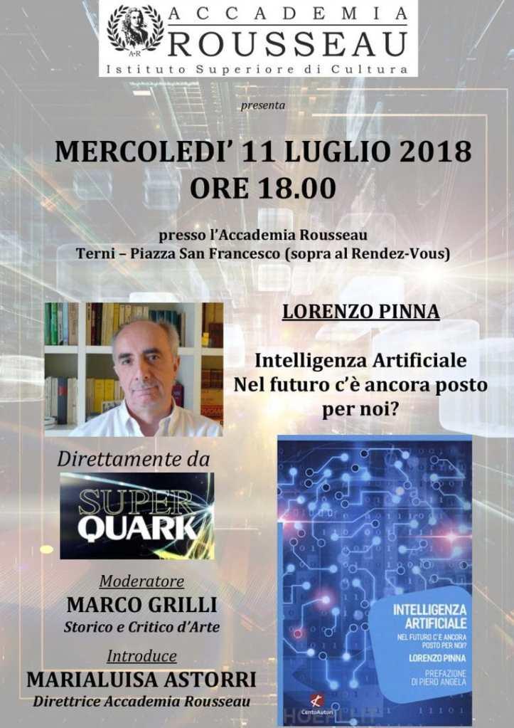 Intelligenza Artificiale – Presentazione libro Lorenzo Pinna, storico autore di SuperQuark