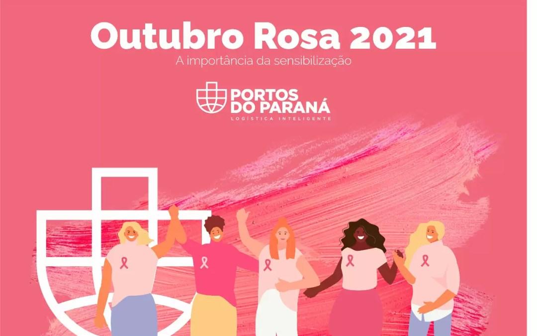 Campanha da Portos do Paraná promove conscientização sobre o câncer de mama