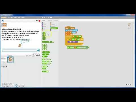 Fattorizzare con Scratch tutti i numeri da 2 a 100