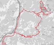 Strada da Rovereto al Lago di Caldonazzo