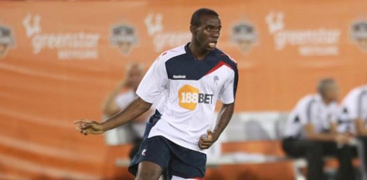 Fabrice Muamba in action | Photograph courtesy of BWFC