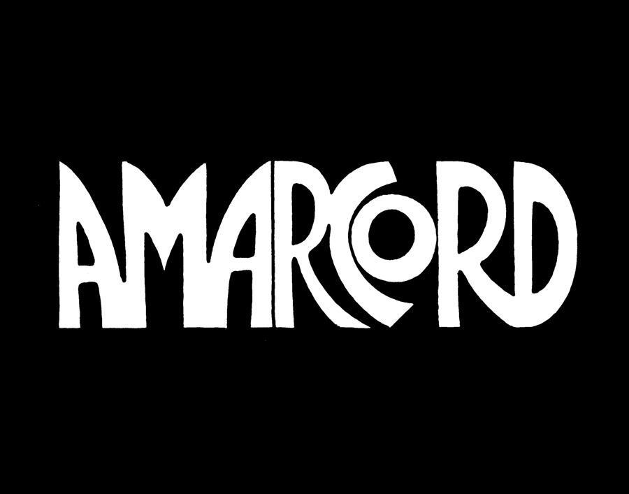 """John Alcorn - logo per il film """"Amarcord"""" di Federico Fellini"""