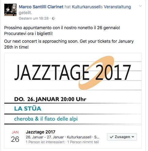 Jazztage 2017 Kulturkarussell Stäfa