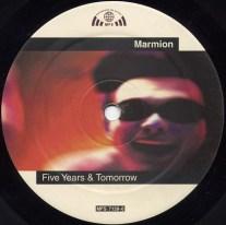 "Das Label der Maxi-Single ""Five Years & Tomorrow"" A-Seite"