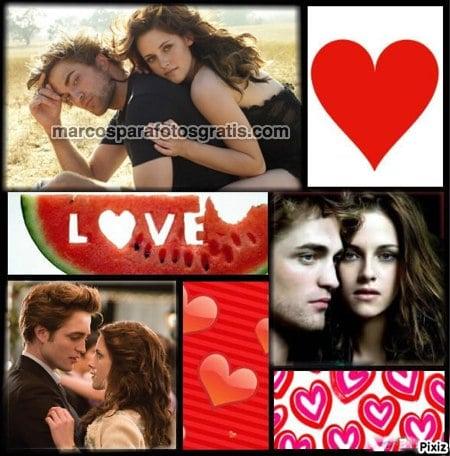 marcos de amor para tres fotos