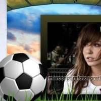 Marco de fotos de fútbol