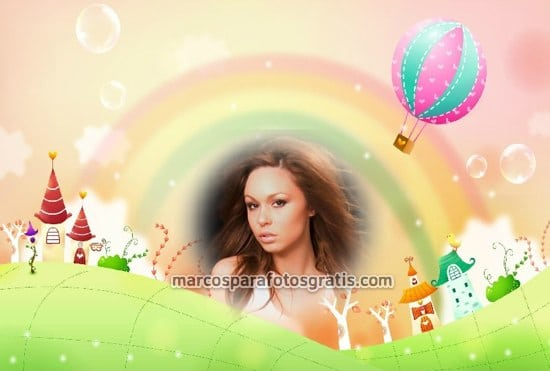 marcos para fotos de arco iris