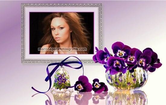 marcos de fotos con cuadro y flores