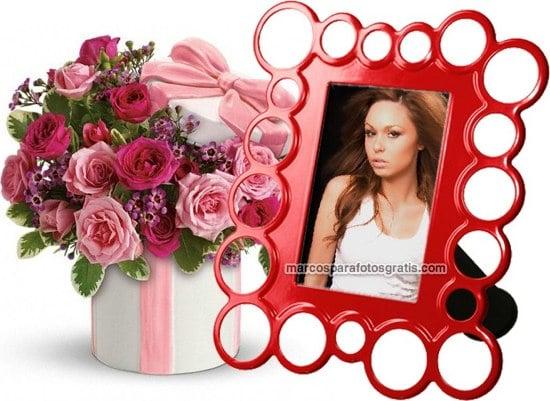 marcos de fotos de color rojo