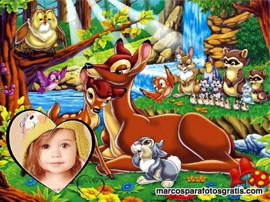 marcos de fotos con bambi