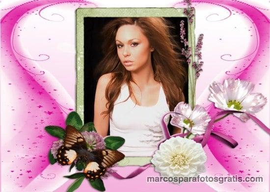 marcos de fotos con flores hermosas
