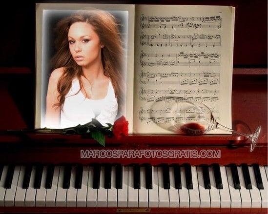 marcos para fotos con piano y partituras