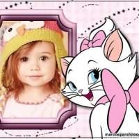 Marco de foto infantil con la Gata Marie