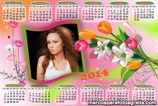 marco de calendario 2014 para fotos