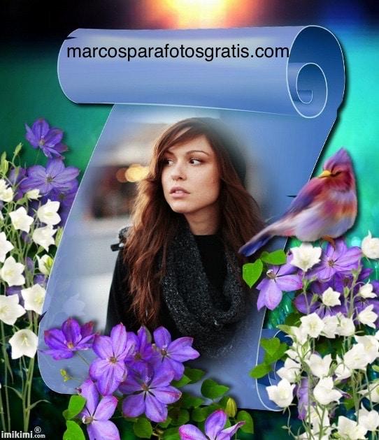 marcos_para_fotos_con_flores_y_pajaros