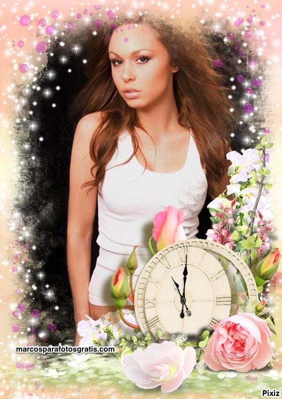 marcos flor y reloj