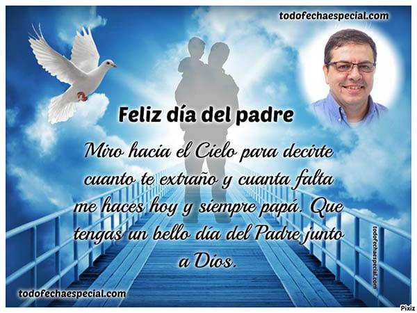 Imagenes del dia del padre para padres que estan en el cielo