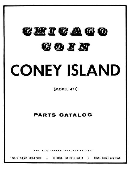 CONEY ISLAND Rifle (Chicago Coin) Manual & Schematic