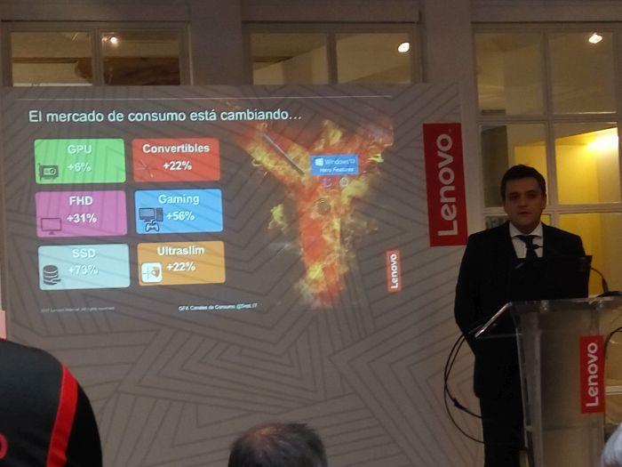 presentación de Lenovo-crecimiento del sector