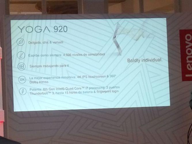 Presentación de Lenovo-especificaciones Yoga 920