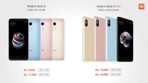 Se presentan en India el Xiaomi Redmi Note 5 y 5 Pro.