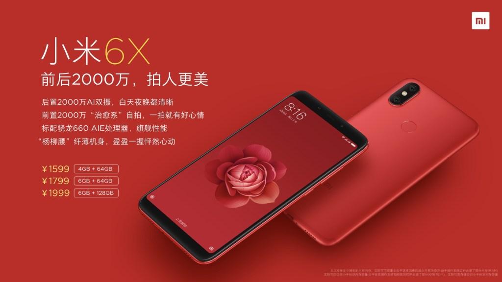 Xiaomi Mi 6X Rojo Llameante