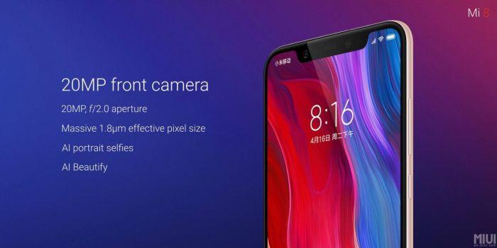 Xiaomi Mi 8-camara frontal