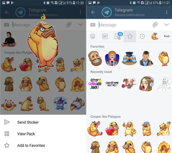 40 trucos para Telegram parte 1-stickers