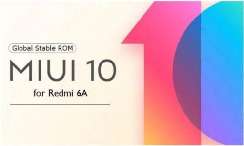 Xiaomi Redmi 6A se actualiza con la ROM estable de MIUI 10.2.8.0