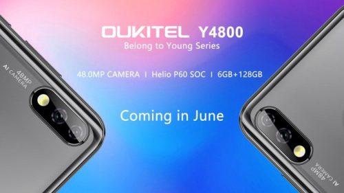 Oukitel Y4800 se lanzará en junio con cámara de 48MP y AI