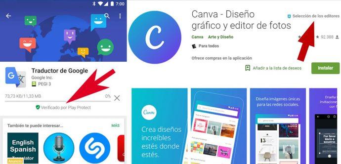 Consejos para no descargar malware Google Play Store
