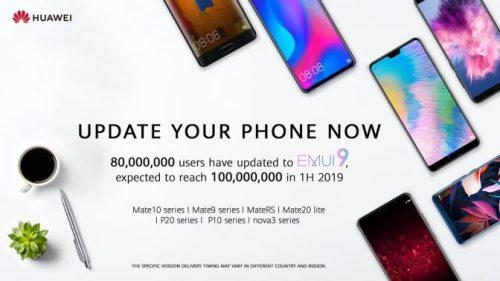 EMUI 9.0 es enviado a nuevos dispositivos de Huawei