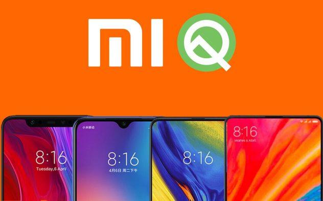 Móviles Xiaomi con Android Q