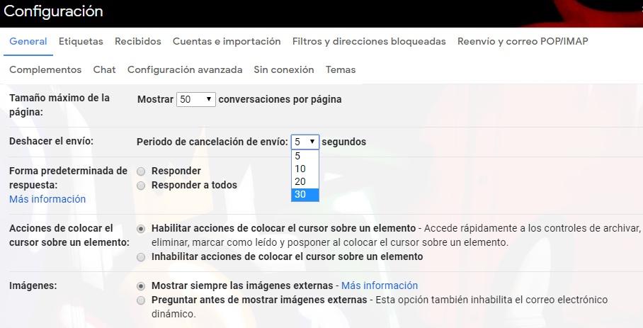 Cómo deshacer correos enviados desde Gmail