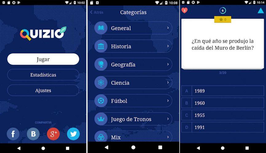 Mejores juegos Android gratis Quizio Pro