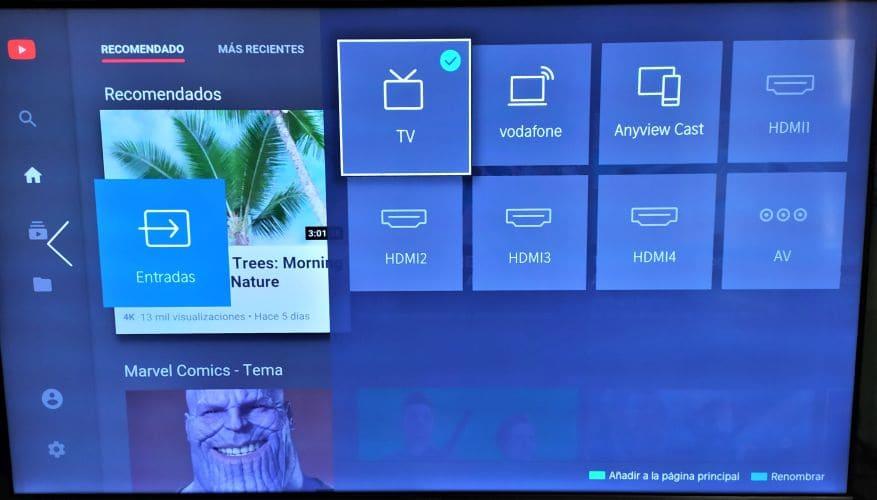 television Hisense U7B-entradas