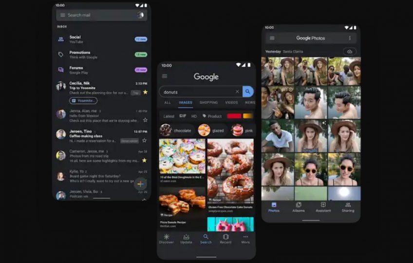 Android 10 características Tema oscuro Modo oscuro