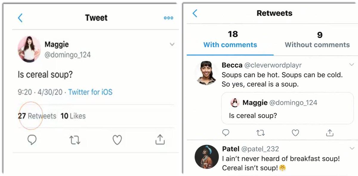 Cómo mirar los retweets con comentarios en iOS y Android