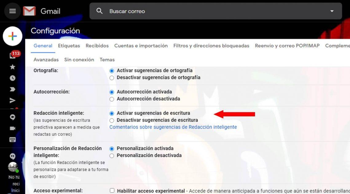 Cómo desactivar la redacción inteligente en Gmail pasos a seguir