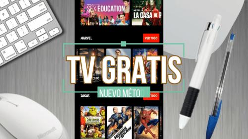 Aplicaciones para ver películas y series y TV gratis