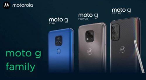 Nueva serie Motorola Moto G 2021: Play, Power y Stylus con grandes baterías