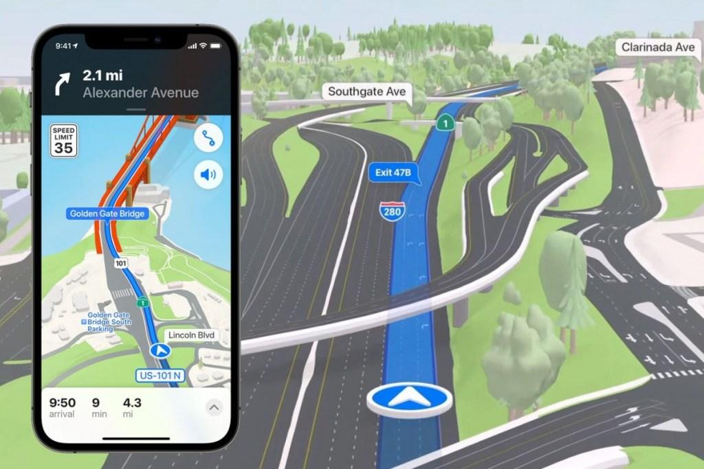 Características de iOS 15 Apple Maps