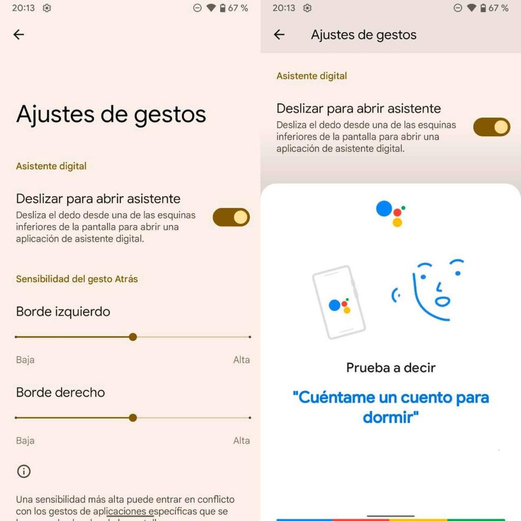 Características de Android 12 Beta 3 Asistente de Google