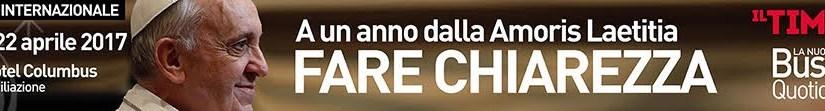 DOMANI A ROMA LAICI DI TUTTO IL MONDO DISCUTONO SULL'AMORIS LAETITIA. SOTTO LO SGUARDO DEL VATICANO E DEL PAPA.