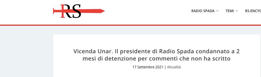 Il Presidente di Radio Spada Condannato per Cose che non Ha Scritto.