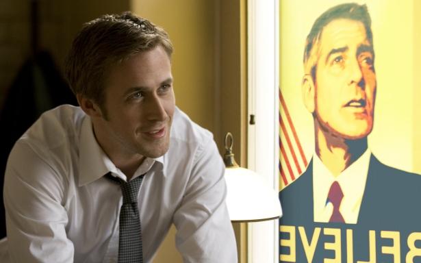 """Scena tratta dal film """"Le idi di Marzo"""" in cui Ryan Gosling era lo spin doctor di George Clooney nella parte del candidato alla Casa Bianca"""